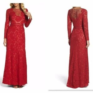NEW Tadashi Katherine Cordered Floral Lace Gown 4